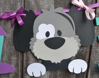 Dog Birthday Party Banner, Puppy Birthday Party Banner