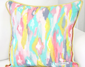 25% off SALE- Playful Pastel Nursery Square Pillow