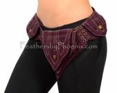 Ready to Ship Vegan Cloth Canvas Utility Holster Belt Hip Pocket Festival Burning Green Purple Maroon Adjustable Purse Unisex Men Women