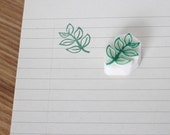 Leaf rubber stamp. Hand carved stamp. Leaves stamp. Handmade stamp. Unmounted stamp. Cute stamp. Nature stamp.