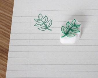 Leaf rubber stamp. Hand carved stamp. Leaves stamp. Handmade stamp. Unmounted stamp. Cute stamp. Nature stamp.