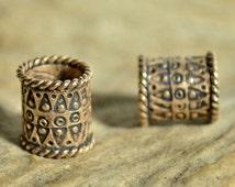 VIKING BEARD RING Bronze Bead Accessory Re-enactment Reenactment