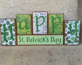 St. Patrick's Day blocks - Happy St. Patrick's Day