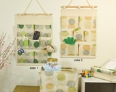 8 pockets green spring style storage pocket /wall pocket / wall storage bag / household storage/back door pouch