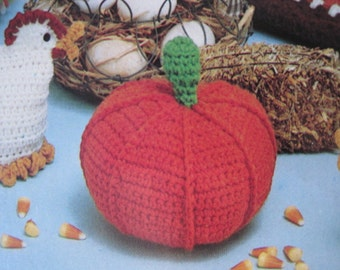 "Crochet Pattern - Pumpkin 6.5"" x 4"""