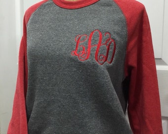Oversized Monogrammed Crewneck Sweatshirt