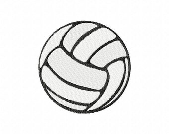Volleyball embroidery design download - 4x4 hoop size