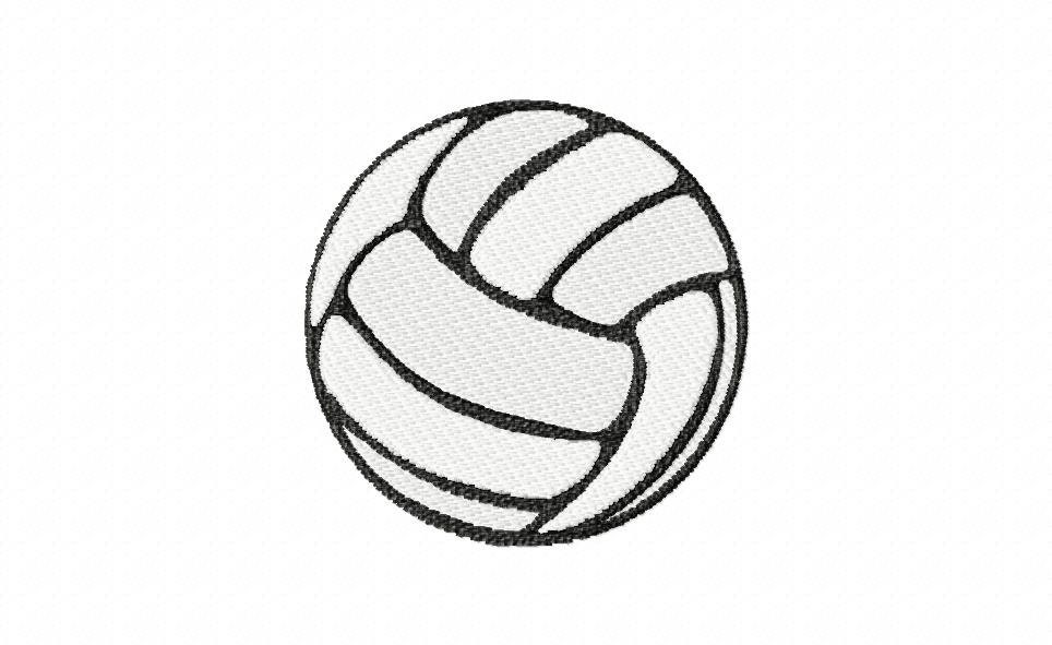 Volleyball embroidery design download hoop size from