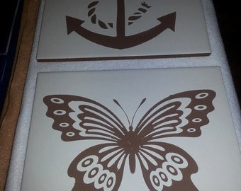 custom etched tile trivet
