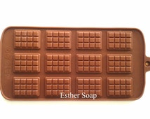 E011- CHEAPEST!!! 12-cavities chocolate bar shaped silicone molds moulds for chocolate cake biscuit soap embeds