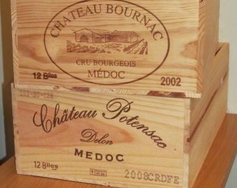 2 Authentic French wine boxes