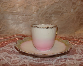Soft, delicate Tea Cup & Saucer from Japan