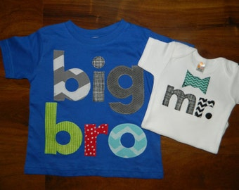 Big Brother Little Brother Set, Big Brother Shirt, Little Brother Bodysuit, Gender Reveal Shirt