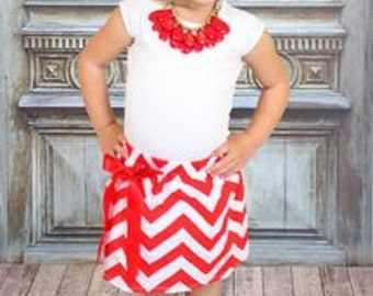 Red Chevron Skirt