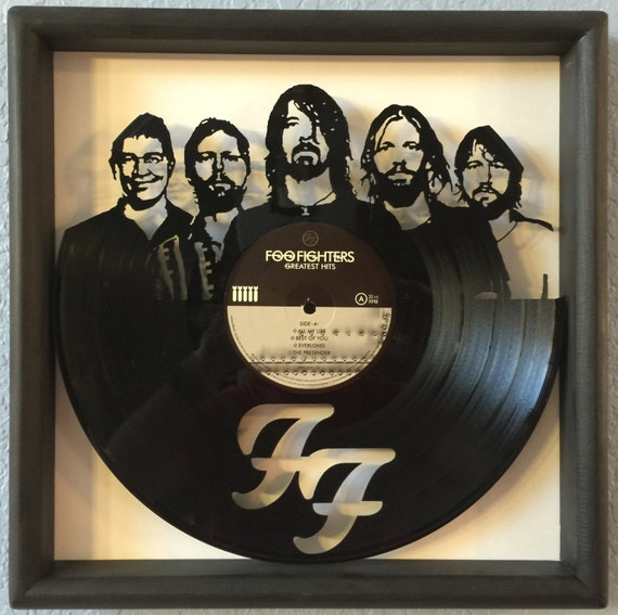 Foo Fighters Quot Greatest Hits Quot Cut Framed Vinyl Lp Record