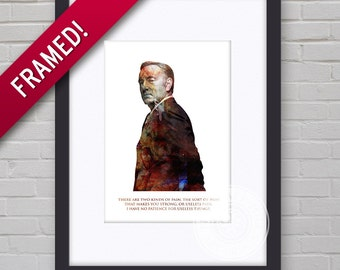 0127F House of Cards Frank Underwood Wall Art Framed Print