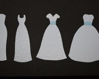 Wedding Dresses Embossed Die Cuts