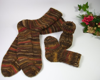 MADE TO ORDER hand knit socks for mom and baby multicolor socks hand knit socks unique socks woman socks baby socks set baby shower gift