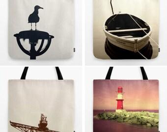 Bag: Rostock Lighthouse boat Seagull Beach