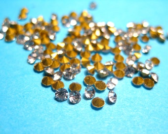 100pcs PP14 Clear Point Back Rhinestones Cabochon, Jewelry supplies Phone Decoration Supplies