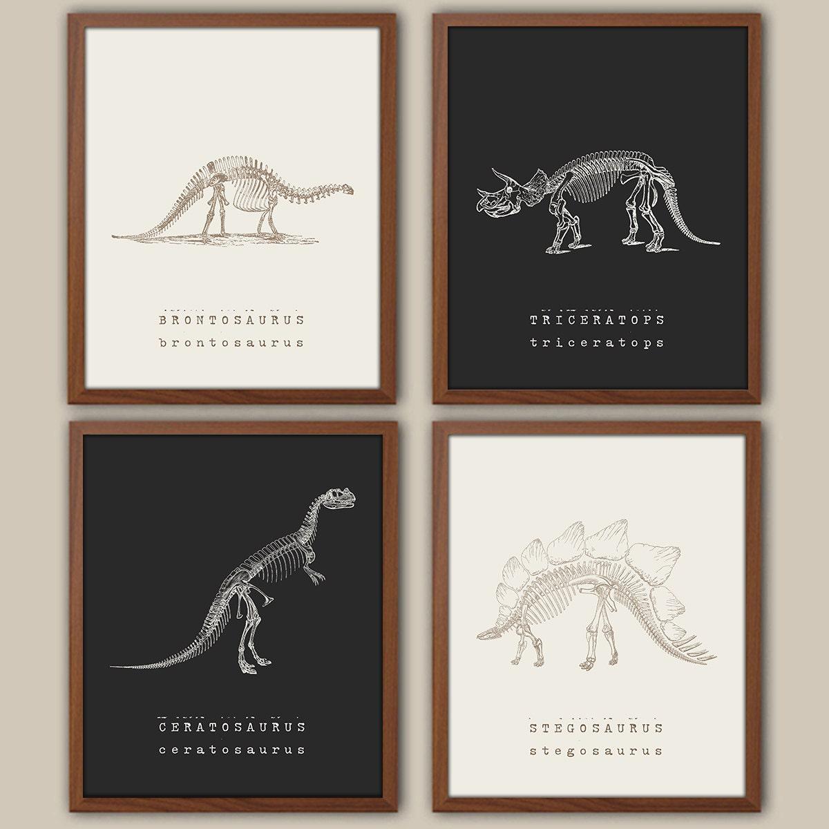 Dinosaur Wall Art Kids Dinosaur Art Baby Boy Nursery Art