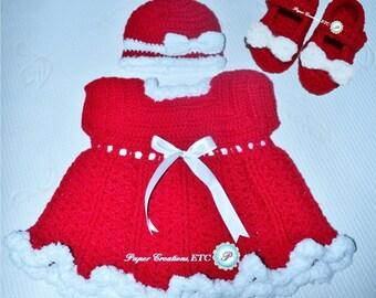 Crochet Mrs. Claus Set - Winter Collection