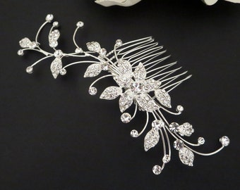 Rhinestone Wedding hair comb, Bridal hair comb, Crystal hair comb, Bridal hair clip, Wedding headpiece, Rhinestone flower hair comb