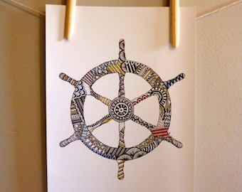 Helm Wheel 'Hundreds and Thousands' Print