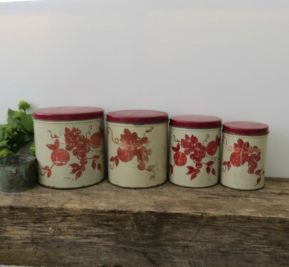 vintage kitchen canister set of four by
