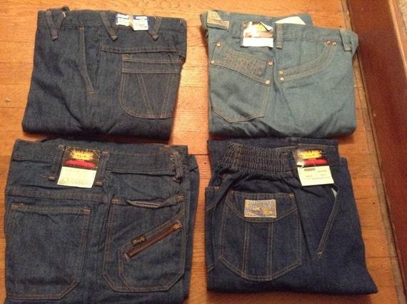 wrangler wrap id transit vintage deadstock denim jeans. Black Bedroom Furniture Sets. Home Design Ideas