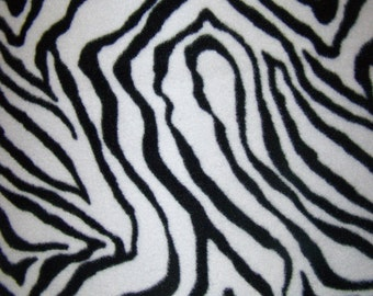 Zebra Print Fleece Throw