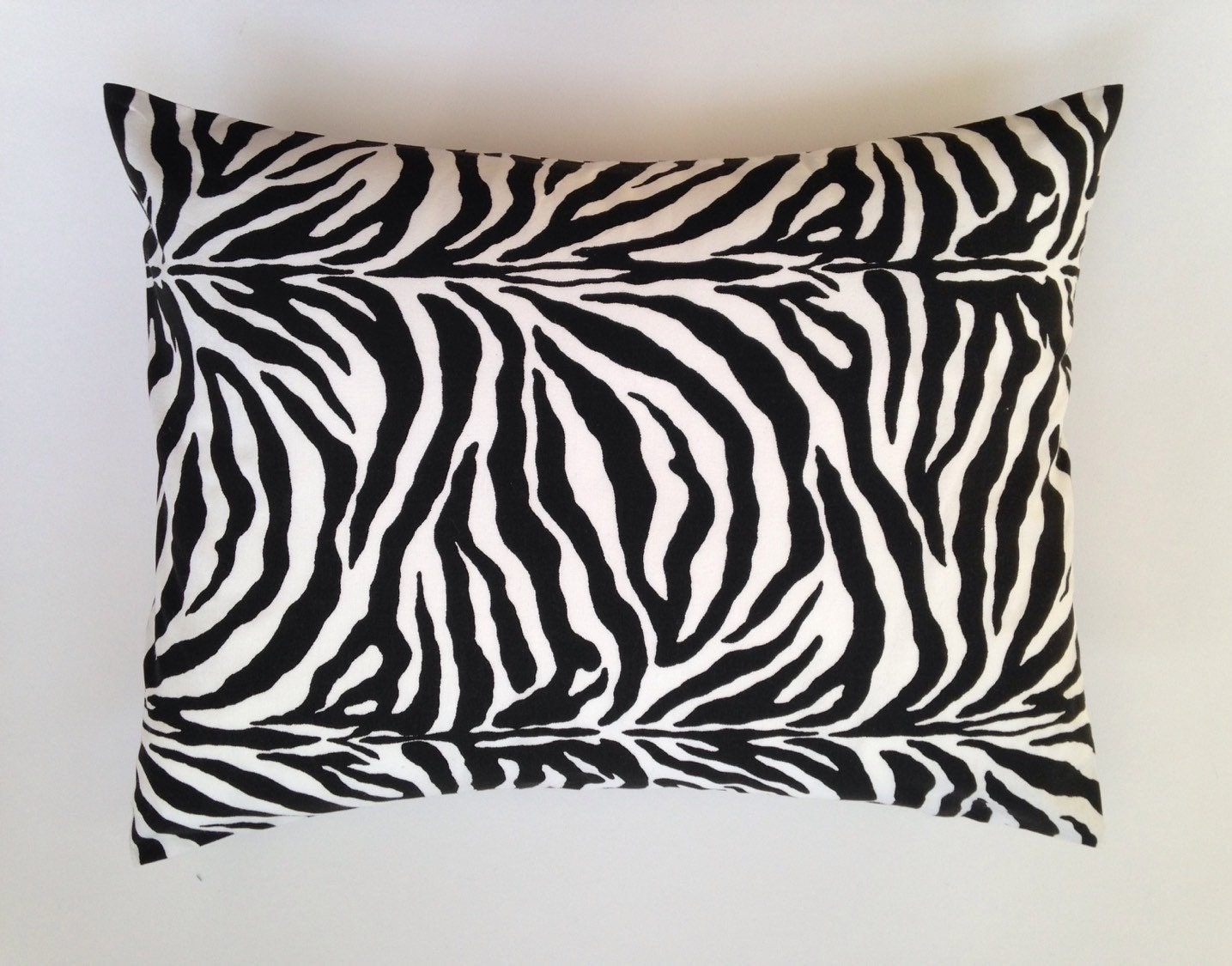 Zebra Black and White Accent Pillow / Travel Pillow / Baby