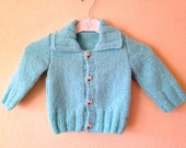 anti-allergic baby cardigan and hat