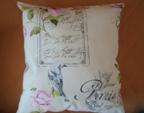 Shabby Chic Decorative Throw Pillow : Paris pillow shabby chic home decor pillow throw by Luckeira
