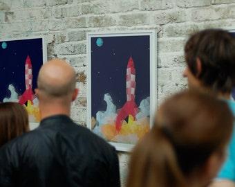 Poster - Tintin - Explorers on the moon - Triangulation