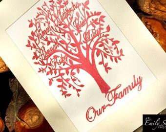 Handcut Family Tree
