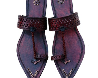 Pointed Leather Chappal for Men- DLC-M-007