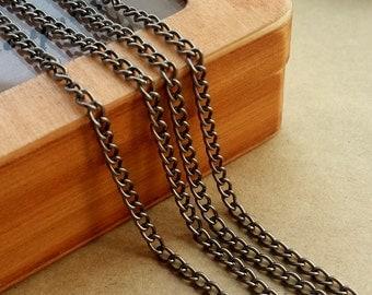 5 Meters Free Gun black Chain,0.6x2.5x4mm link chain,CH01b-2