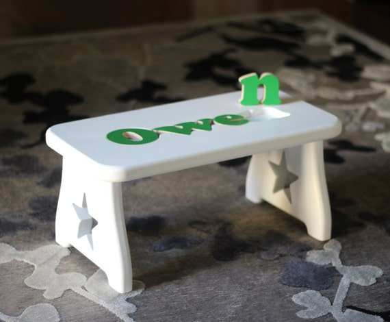 Name Puzzle Step Stool Pick Your Finish And Leg By Craftcarve