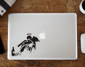 Banksy Broken Angel MacBook Decal