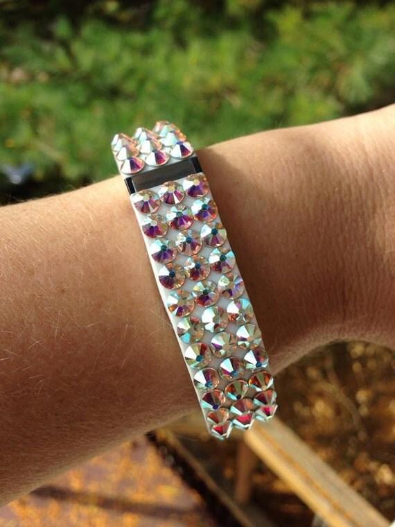 Fitbit Flex Swarovski Rhinestone bracelet band Small White Crystal AB