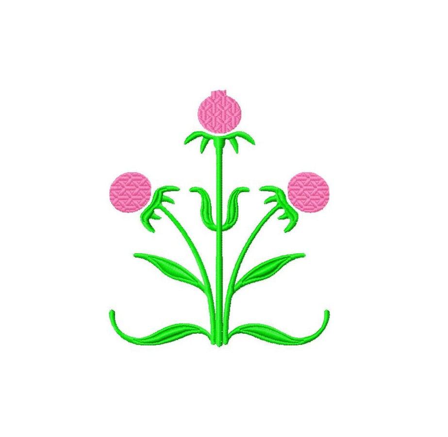 Machine embroidery design modern floral