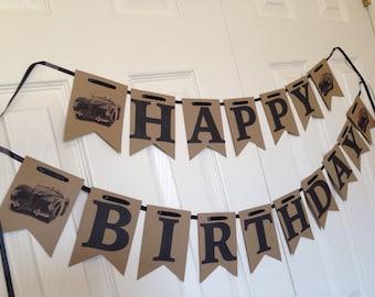 Vintage Car Birthday Banner, Car Birthday, Man Birthday, Vintage Car, Vintage Car Party, Vintage Car Banner, Car Banner, Car Party, Banner