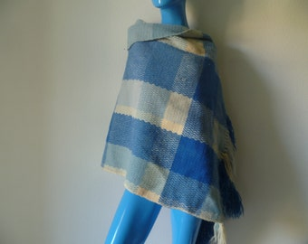 Vintage Hand Woven By Susan Wool Shawl