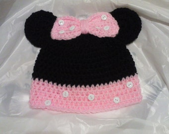 Crochet Minnie Mouse Inspired Hat