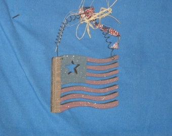 Rustic Country wooden Small Old Glory, American Flag, Hand-painted, Made in the USA, patriotic America, Wall Decor