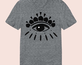 Eye On You -  Women's Slim Fit TShirt, Graphic Tee, American Apparel, Short Sleeve Shirt, T Shirt