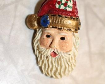 Vintage Santa Pin