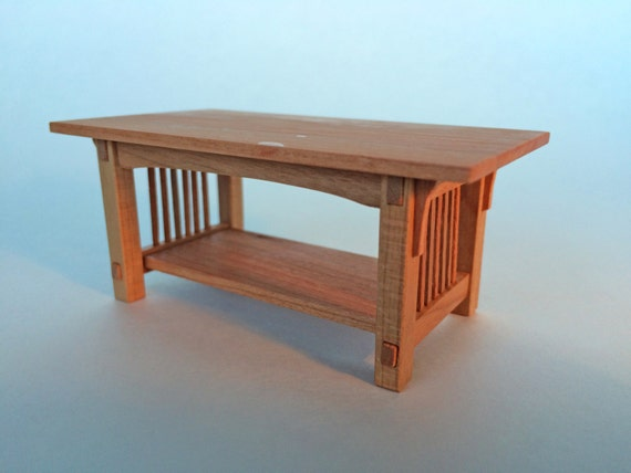 Mission Coffee Table Cherry 1 Inch Scale Stickley Arts And Crafts Handcrafted