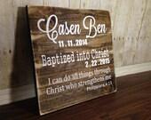 Baptism wood sign/ dedication wood sign / baptism decor /baptism gift / dedication gift /dedication decor /rustic baptism /rustic dedication
